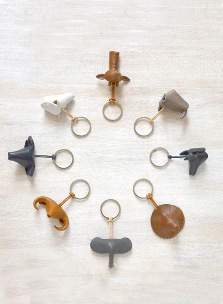 "Yushi Soshiroda Key chain ""Animal"" made of leather available in 8 different characters"