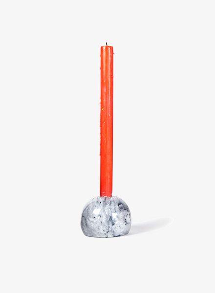 Fundamental Kugel I Candlestick made of polished granite