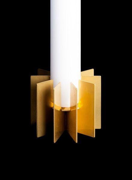 """Fundamental Candle holder """"Klick"""" - Brass candlestick for self assamble"""
