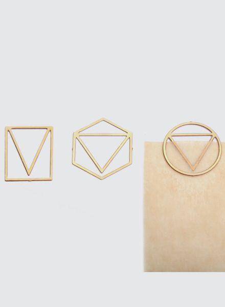 Fundamental Paperclip - Büroklammern aus Messing in 3 unterschiedlichen Formen