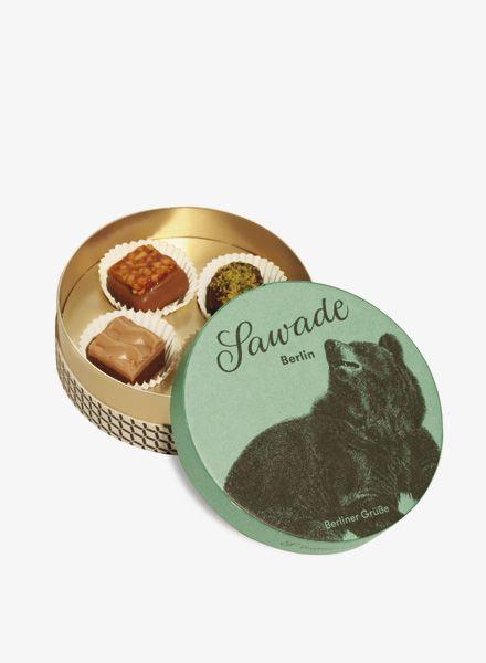 "Sawade Round Box of Chocolates ""Berliner Bär"" - made by Sawade Berlin"