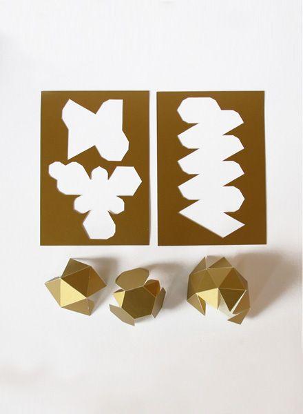 Kolor Papierschmuck I Gold, Silber und Weiß