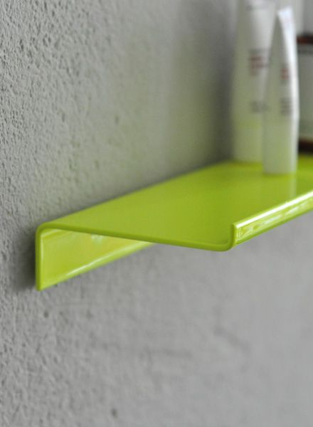 "Kolor Wall shelf ""Z-shelf"" - Shelf neon yellow powder coated"