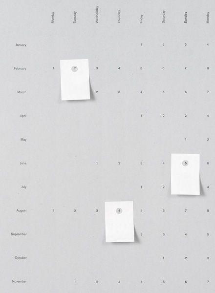Wall Calender 2018 I Light Silver & Muddy Black