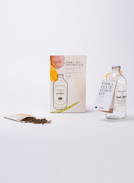 "Paper & Tea Vodka Tea Infusion Kit ""Golden Earl"" - Infusing vodka with tea"