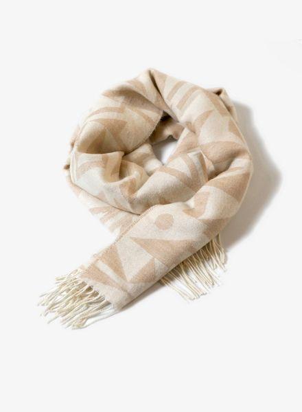 Sike Schal beige: Sike Schal beige für Damen und Herren in grau