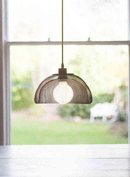 Fundamental Nest Bowl Schwarz - Obstschale oder Lampenschirm aus pulverbeschichtetem Stahlgeflecht