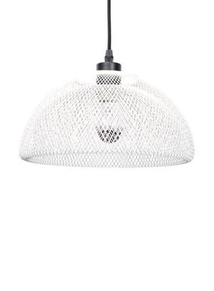 Fundamental Nest Bowl Weiss - Obstschale / Lampenschirm aus pulverbeschichtetem Stahlgeflecht