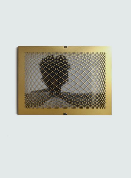 "Fundamental Picture frame ""Rauter Frame"" in brass available in 2 sizes"