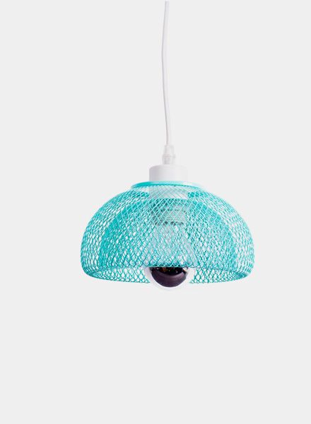 Fundamental Nest Bowl Mint - Powder coated steel mesh fruit bowl or lampshade