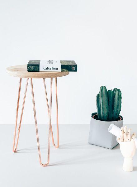 tischbeine hairpin legs in kupfer von trivial project of berlin. Black Bedroom Furniture Sets. Home Design Ideas