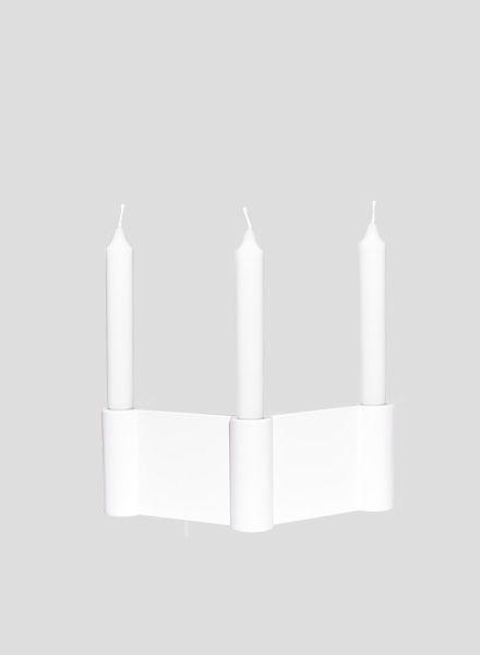 """Objekte unserer Tage Kerzenständer """"Schmidt""""pulverbeschichtet für 3 Kerzen"""
