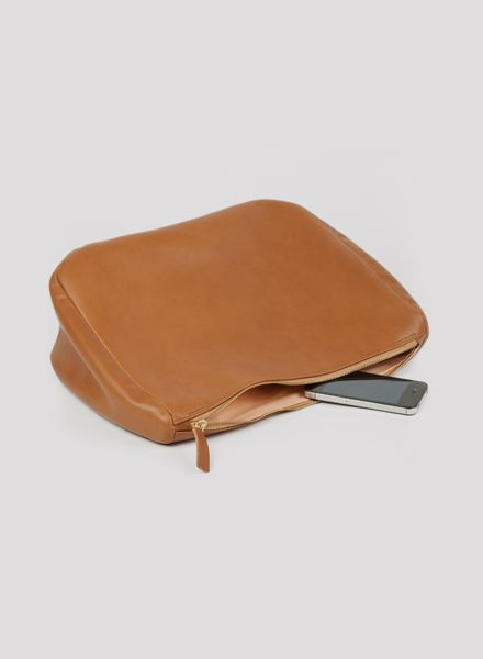 """Marin et Marine Purse/Clutch """"Obre noisette"""" made of brown vegetable tanned leather"""