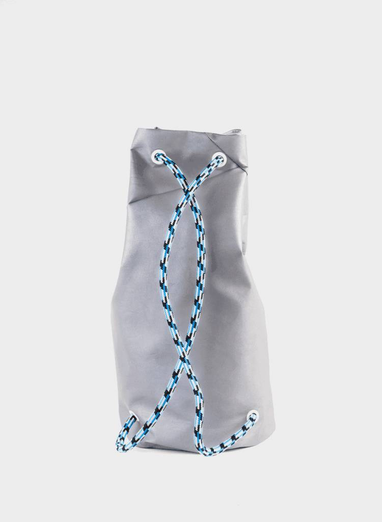 "Marin et Marine Backpack ""Mad bag Berlin"" made of reflecting silver fabric"