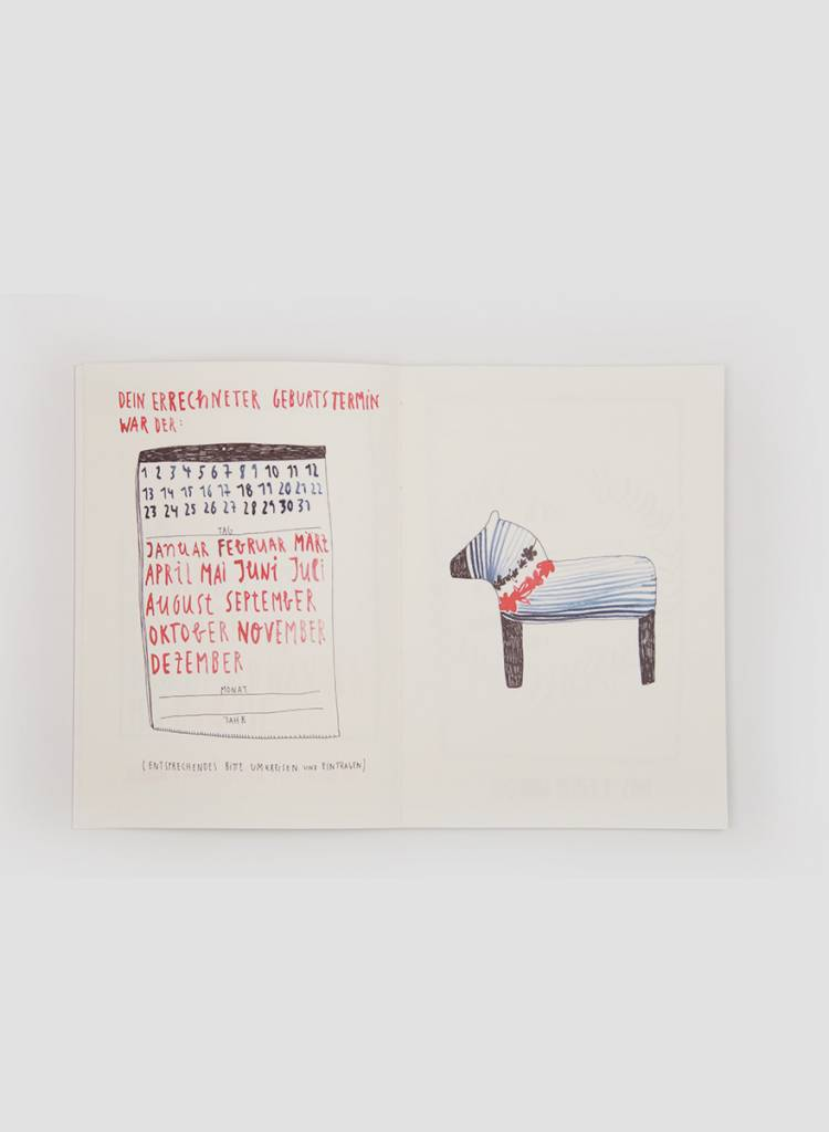 Gretas Schwester Baby book I Hand illustrations on 54 pages