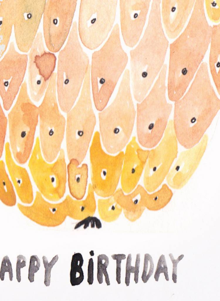 """Gretas Schwester Karte """"Happy Birthday"""" I Handillustrierte Grußkarte"""