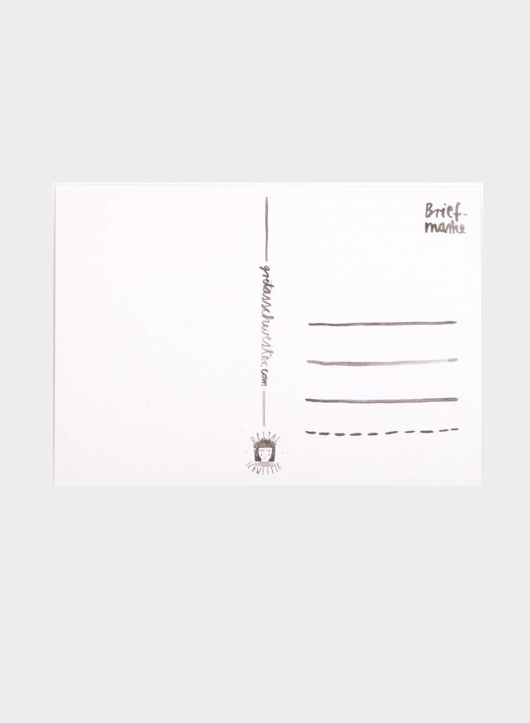 """Gretas Schwester Karte """"Kaktus"""" I Handillustrierte Karte"""