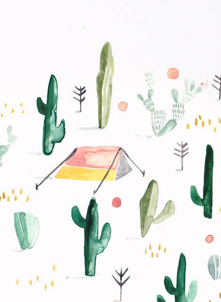 "Gretas Schwester Card ""Desert"" I Hand illustrated postcard"