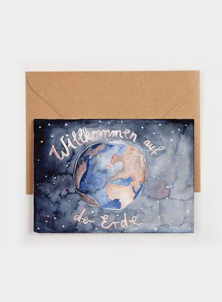 "Gretas Schwester FOLDING CARD ""WELCOME"""