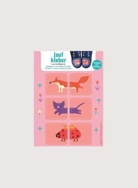 """Laufkleber Sticker """"Pink animals"""" I Set of 3 sticker against"""