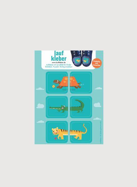 "Laufkleber Sticker ""Zoo animals"" I Set of 3 sticker against"