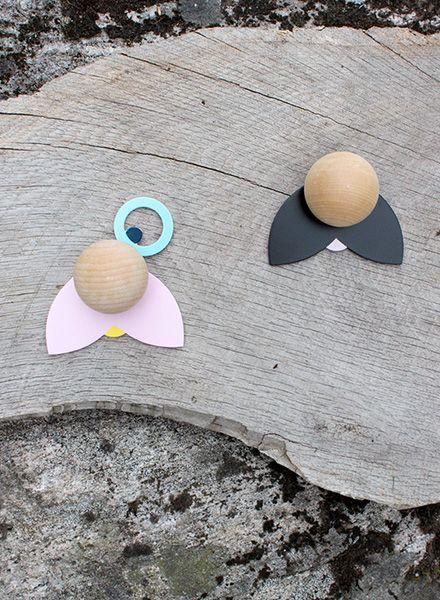 Jäll & Tofta Hatschi Wandhaken I Set aus 2 lustigen Haken für das Kinderzimmer