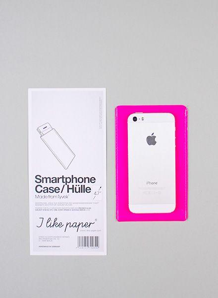 I like Paper Smartphone Case pink I Handyhülle aus Tyvek für alle Größen, wasser- und reisfest