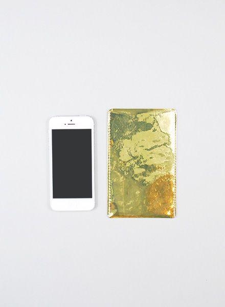 I like Paper Smartphone Case gold I Handyhülle aus Tyvek für alle Größen, wasser- und reisfest