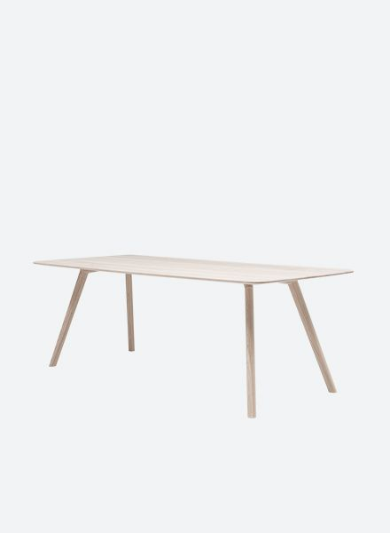 "Objekte unserer Tage Table ""Meyer""- Wooden table made of solid oild ash"