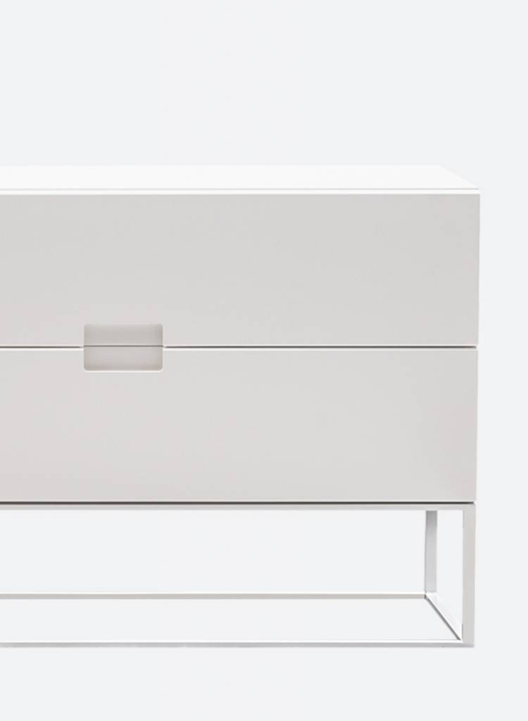 """Objekte unserer Tage Sideboard """"Fischer"""" made of MDF and powder coated steel"""