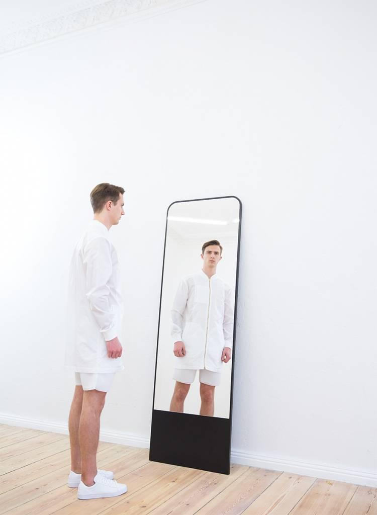 """Objekte unserer Tage Spiegel """"Friedrich"""" aus Echtholzfurnier Esche"""