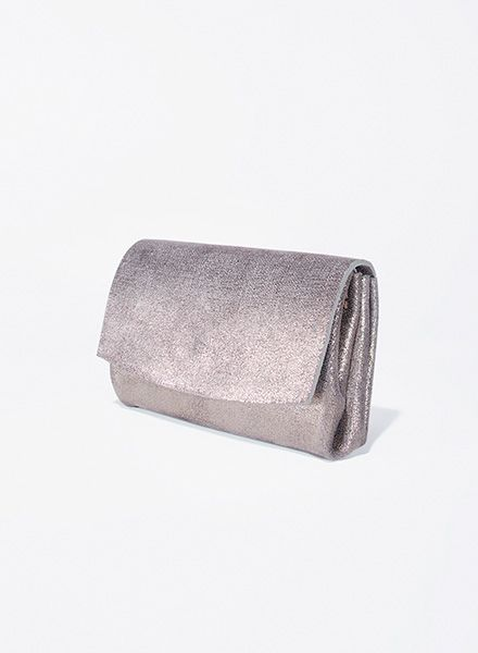 "Matke Purese Starlight ""Mini Wallet"" made of soft italien suede leather with glitter finish"