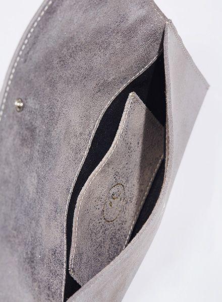 """Matke Damen-Handtasche Starlight """"Simple Clutch"""" aus feinem italienischem Wildleder mit Glitzer"""