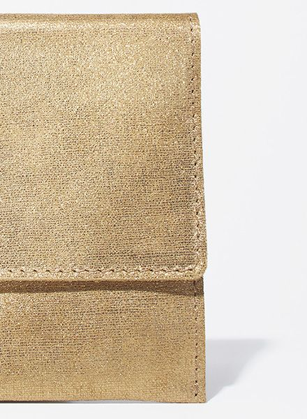 "Matke Clutch Starlight ""Simple clutch"" made of soft italien suede leather with glitter finish"