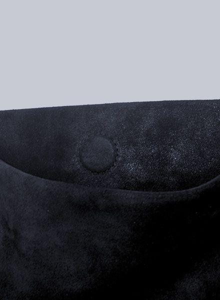 "Matke Leather bag ""Starlight Black"" with glitter finish, magnetic closure & small inside pocket"