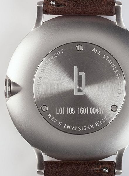 "Lilienthal Armbanduhr L1 silber I Designed in Berlin - ""Made in Germany"""