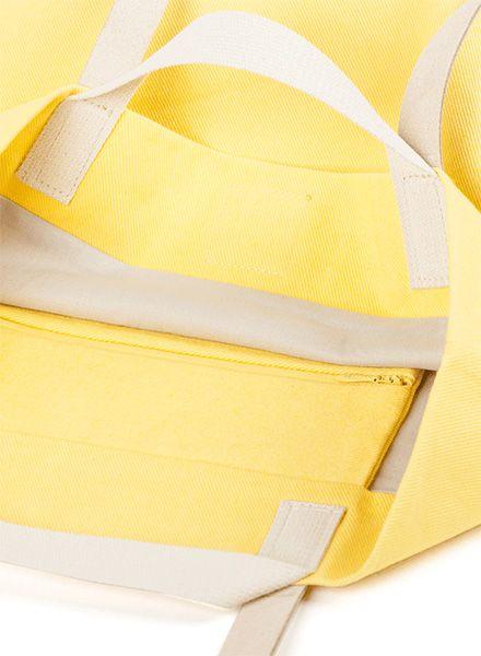 "Marin et Marine Handle bag ""Tote bag citron"" made of 100% organic cotton"
