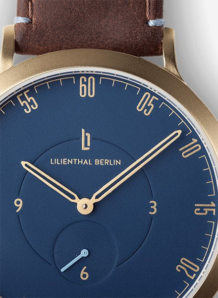 "Lilienthal Watch L1 gold I Designed in Berlin - ""Made in Germany"""