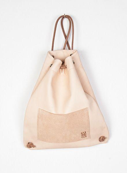 "Hevan Backpack ""Yazgeldi"" made of vegetable tanned leather and inside pocket"