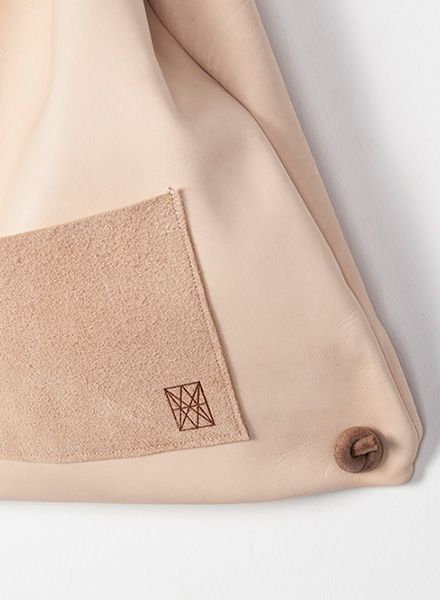 "Hevan Backpack ""Yazgeldi"" made of vegetable tanned leather and inside pocket"
