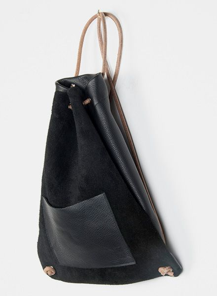 Hevan Backpack by Hevan made of vegetable tanned leather and inside pocket