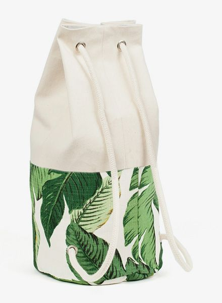 "Marin et Marine Backpack ""Sac Marin"" size L with palm-pattern/ LIMITED EDITION"