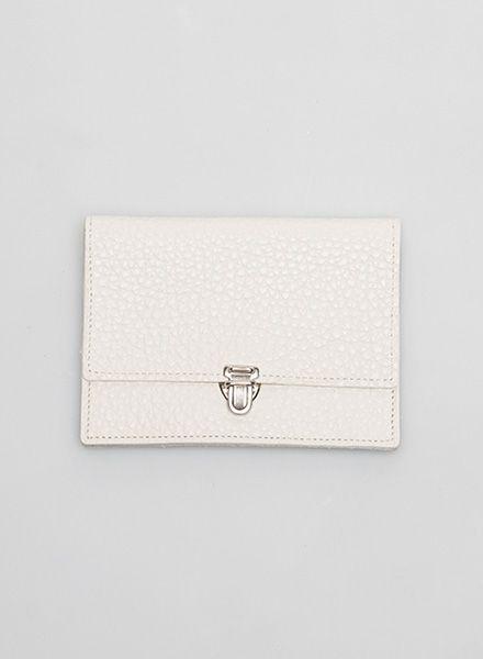 Hevan Geldbeutel aus hochwertigem weissem Leder - handgefertigt