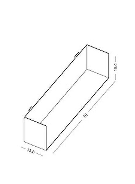 "Linea1 CD shelf ""Linea1_b""- shelf made of galvanized sheet steel"