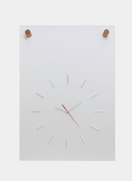 Fundamental Unique poster clock for self assemble made of paper