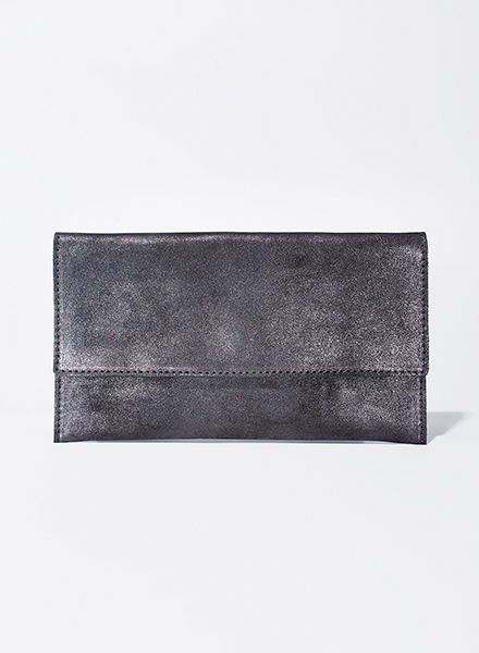 "Matke Starlight ""Simple clutch"" made of soft italien suede leather with glitter finish"