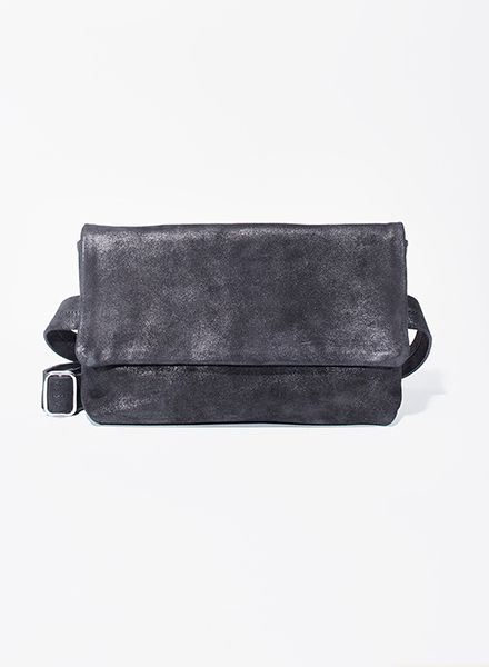 "Matke Hip bag ""Starlight"" made of soft italien suede leather with glitter finish"