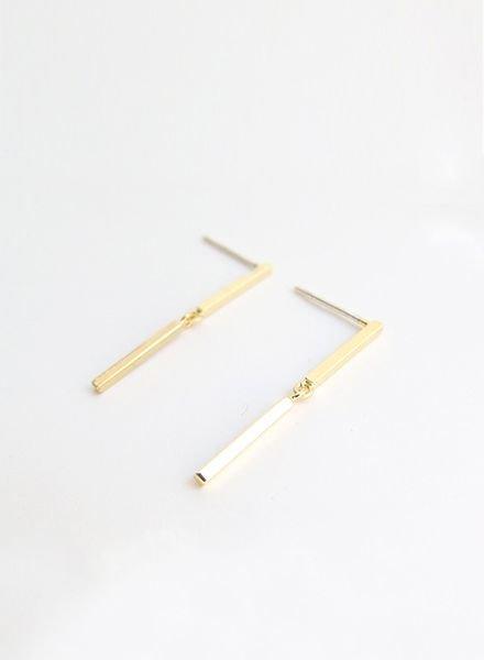 """SIBYLAI Earring """"No.6 Gold"""""""
