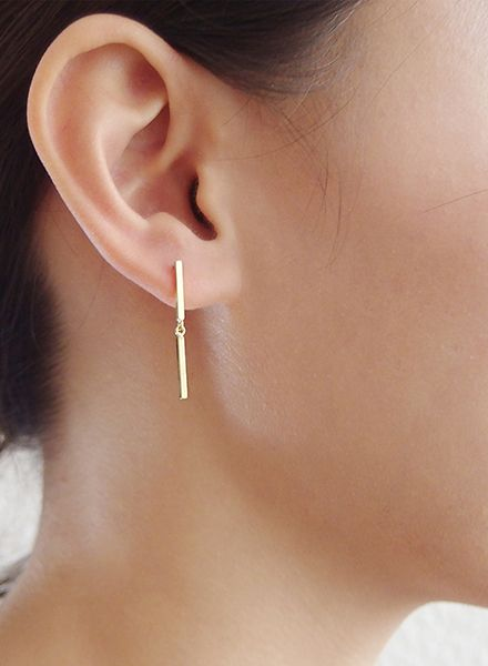 "SIBYLAI Ohrringe ""No.5 Gold"" hergestellt aus vergoldetem Messing"