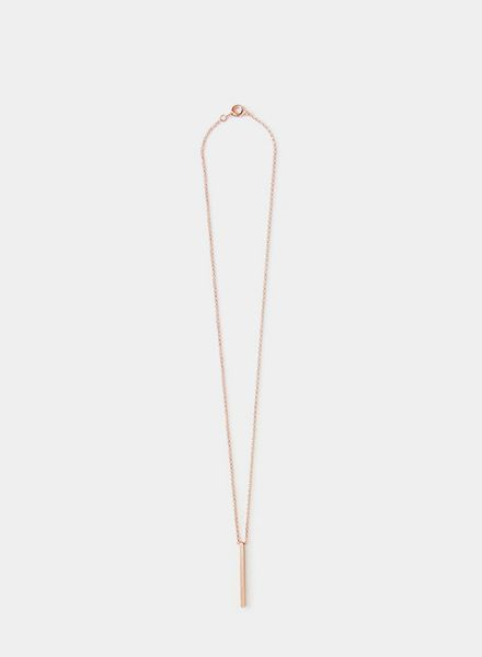 "SIBYLAI Necklace ""Bar rose"" made of gold plated brass - rosegold"